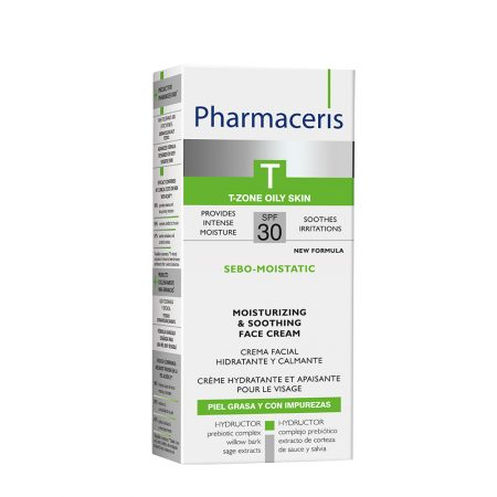 PHARMACERIS T, Sebo Moistatic-raminamasis kremas, SPF30, 50ml (dėž.)