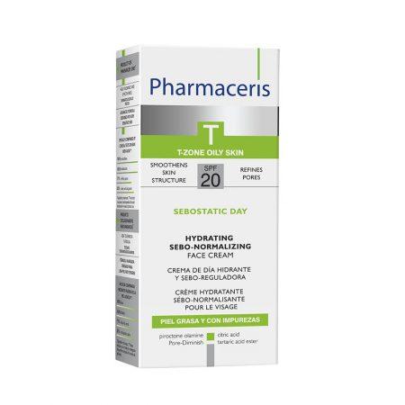 PHARMACERIS T, Sebostatic-normalizuojamasis kremas, SPF20, 50ml (dėž.)