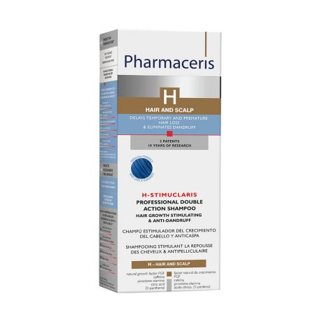PHARMACERIS H, Stimuclaris-augimą skatinantis, nuo pleiskanų šampūnas, 250ml (dėž.)