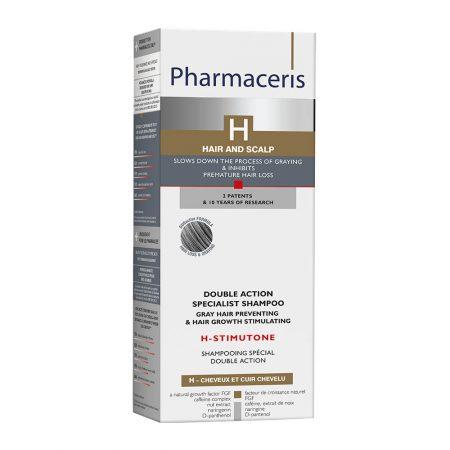 PHARMACERIS H, Stimutone-augimą skatinantis, žiliems plaukams šampūnas, 250ml (dėž.)