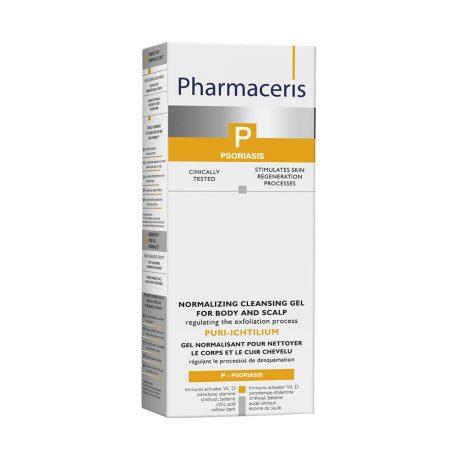 PHARMACERIS P, Puri Ichtilium-kūno ir galvos valomasis gelis, 250ml (dėž.)