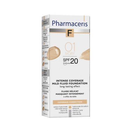 PHARMACERIS F, Intensive Coverage-intensyviai dengianti pudra nr.1, SPF20, 30ml (dėž.)