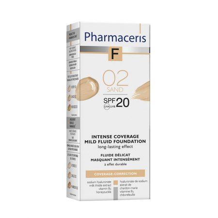 PHARMACERIS F, Intensive Coverage-intensyviai dengianti pudra nr.2, SPF20, 30ml (dėž.)