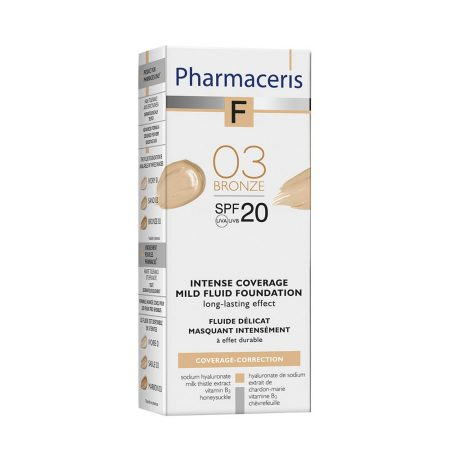PHARMACERIS F, Intensive Coverage-intensyviai dengianti pudra nr.3, SPF20, 30ml (dėž.)