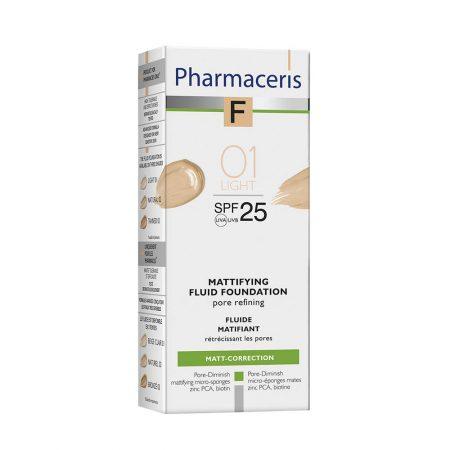 PHARMACERIS F, Mattifying-matinė pudra nr. 1, SPF25, 30ml (dėž.)