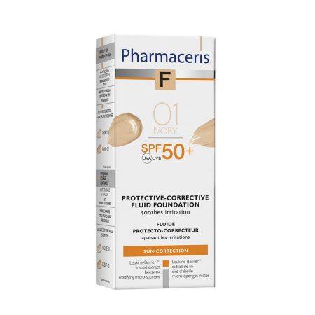 PHARMACERIS F, Protective Corective-apsauginė pudra nr. 1, SPF50, 30ml (dėž.)