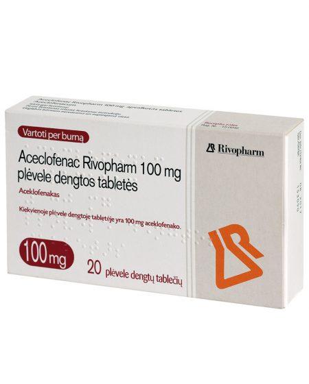 Aceclofenac Rivopharm 100 mg N20 (Pakuotė)