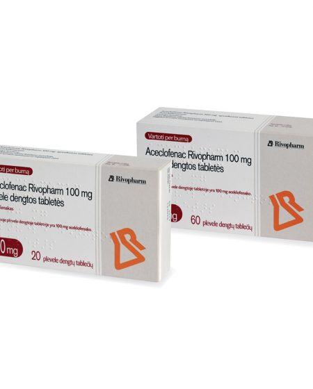 Aceclofenac Rivopharm N20-N60 (2 pakuotės kartu)
