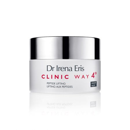 Clinic Way, Nr.4 stangrinamasis naktinis veido kremas su peptidais